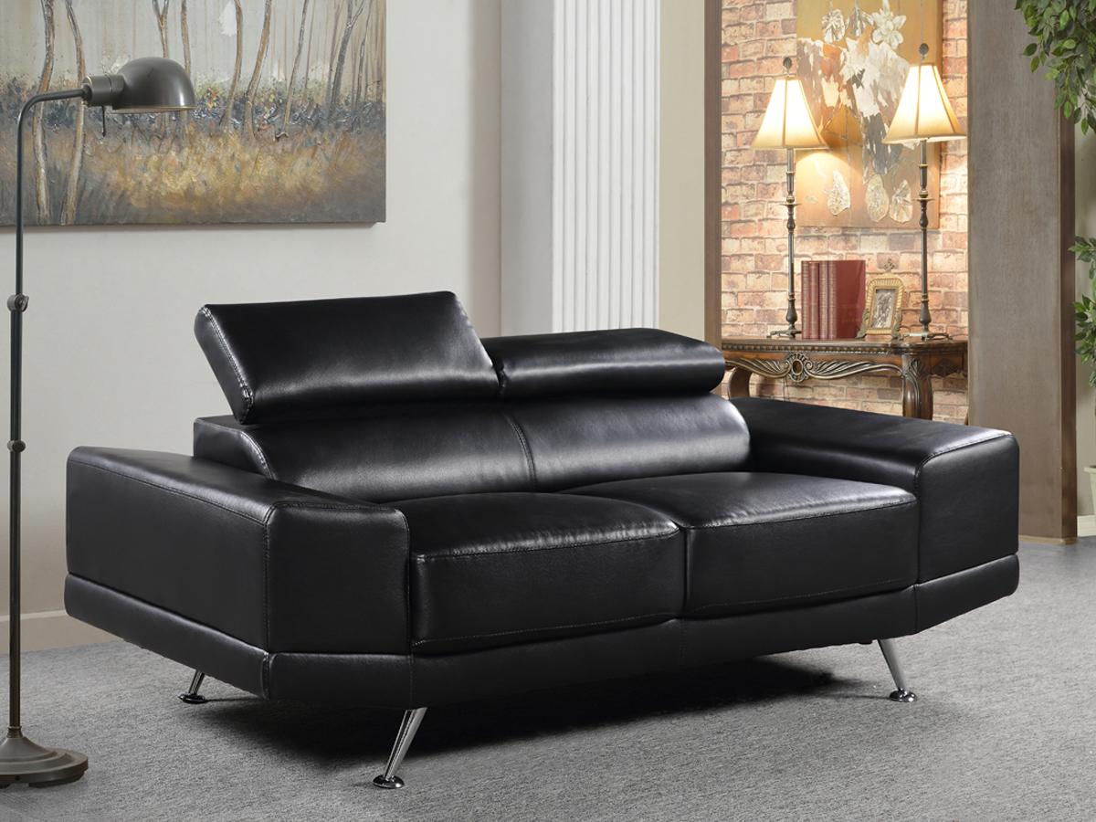 Canape oxford cuir 2 places noir ebay - Produit nettoyant cuir canape ...