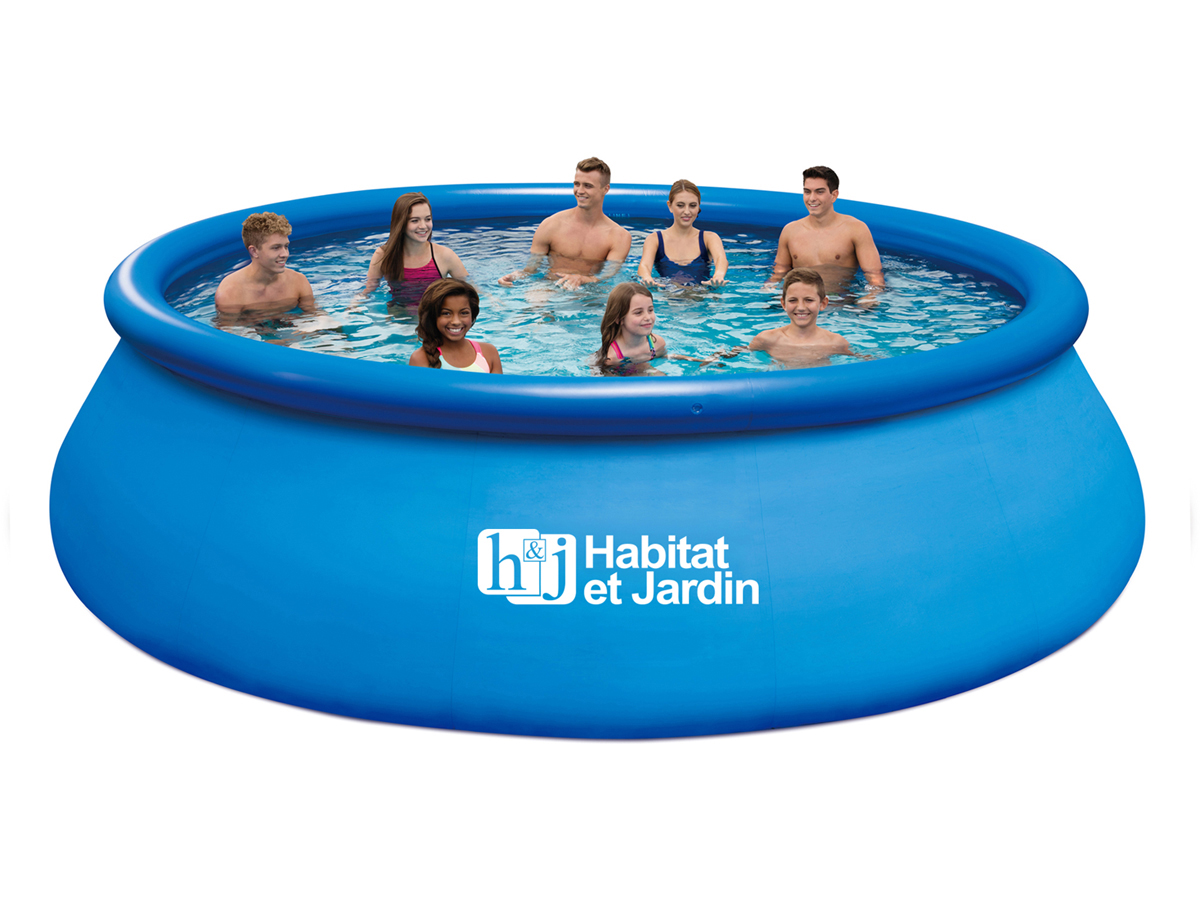 Piscine autoportante ronde quick set pool x h 1 for Piscine en anglais