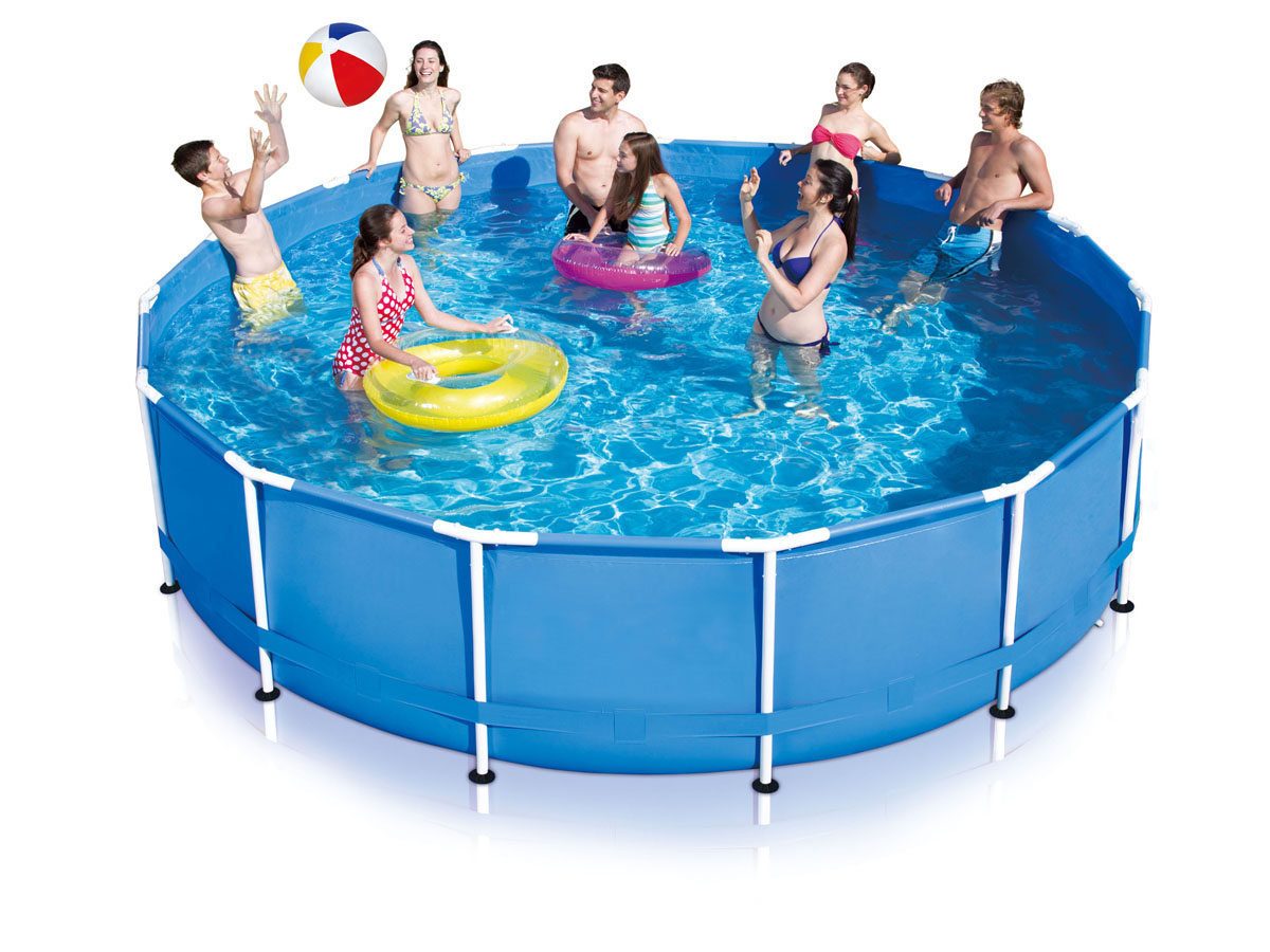Piscine tubulaire metal frame pool feta 3 x 1 for Piscine en anglais