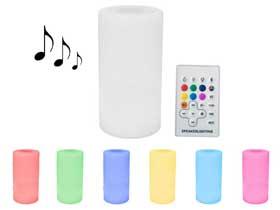 Eclairage LED sonore Bluetooth de jardin