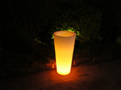 "Pot lumineux ""Rosa"" - Led multicolore - 42 x 42 x 85 cm"