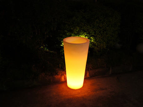 "Pot lumineux ""Rosa"" - Led multicolore - 42 x 42 x 85 cm"