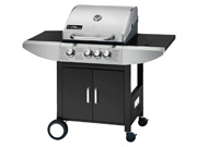 Barbecue gaz  Sirocco 3  - 3 brûleurs + un feu latéral - 9.45 kW