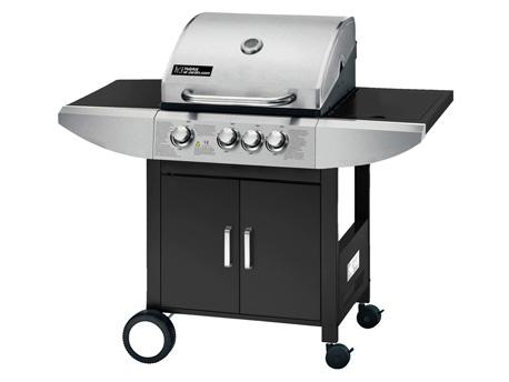 """Barbecue gaz """"Sirocco 3"""" - 4 brûleurs dont un feu latéral - 9.45 kW"""