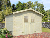 "Abri jardin bois ""Paris"" - 9.60 m² - 3.13 x 3.07 x 2.17 m - 19 mm"