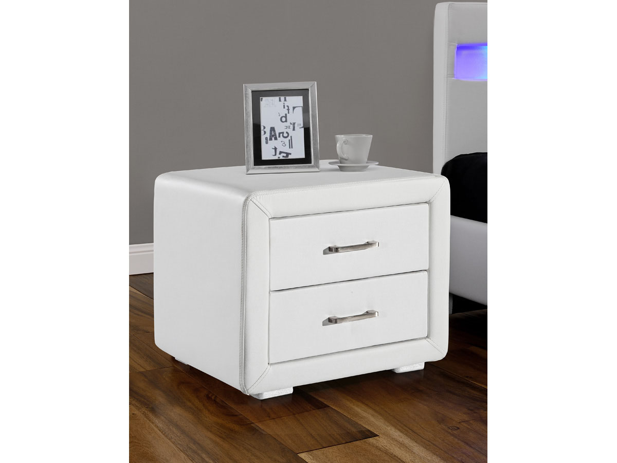 chevet lola 49 x 37 x 44 5 cm blanc 81435. Black Bedroom Furniture Sets. Home Design Ideas