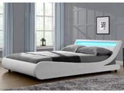 """Lit LED """"Natacha"""" - 140 x 190 cm - Blanc"""