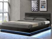 """Lit coffre LED """"Anastasia"""" - 160 x 200 cm - Noir"""