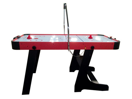 "Table de hockey ""Dan"" - 151 x 74 cm - Noir et Rouge"