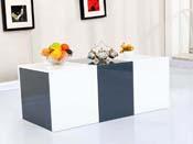 """Table base """"Bina"""" - 115 x 55 x 45 cm - Blanc laqué"""