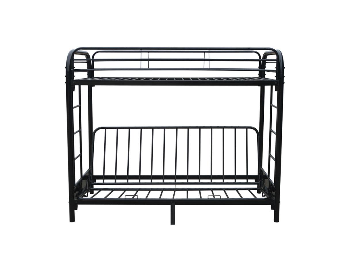 lit mezzanine polo m tal noir ebay. Black Bedroom Furniture Sets. Home Design Ideas
