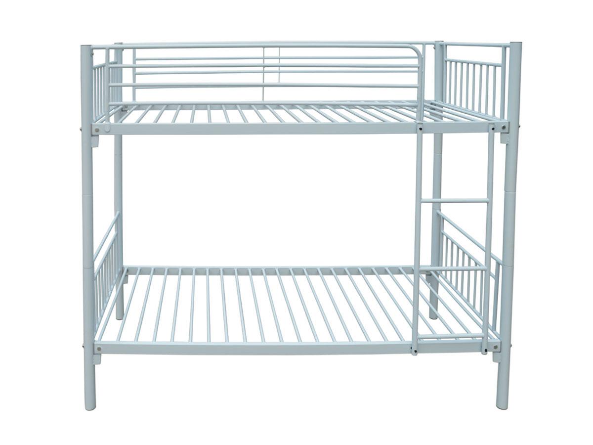 lit superpos adam m tal blanc. Black Bedroom Furniture Sets. Home Design Ideas