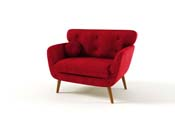 "Fauteuil ""Scandi"" - Rouge"