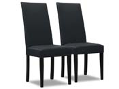 """Lot de 2 chaises """"Peter"""" - Gris foncé"""