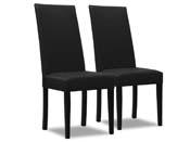 """Lot de 2 chaises """"Peter"""" - Noir"""