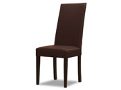 "Lot de 2 chaises ""Peter"" - 108 x 38 x 46 cm - Coloris chocolat"