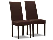 "Lot de 2 chaises ""Peter"" - Chocolat"
