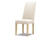 "Lot de 2 chaises ""Peter"" - 108 x 38 x 46 cm - Coloris blanc"