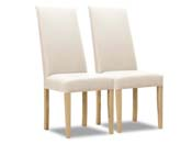 "Lot de 2 chaises ""Peter"" - Blanc"