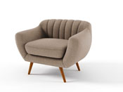 "Fauteuil tissu ""Olso"" - Taupe"