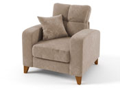 "Fauteuil tissu ""Aztec"" - Taupe"