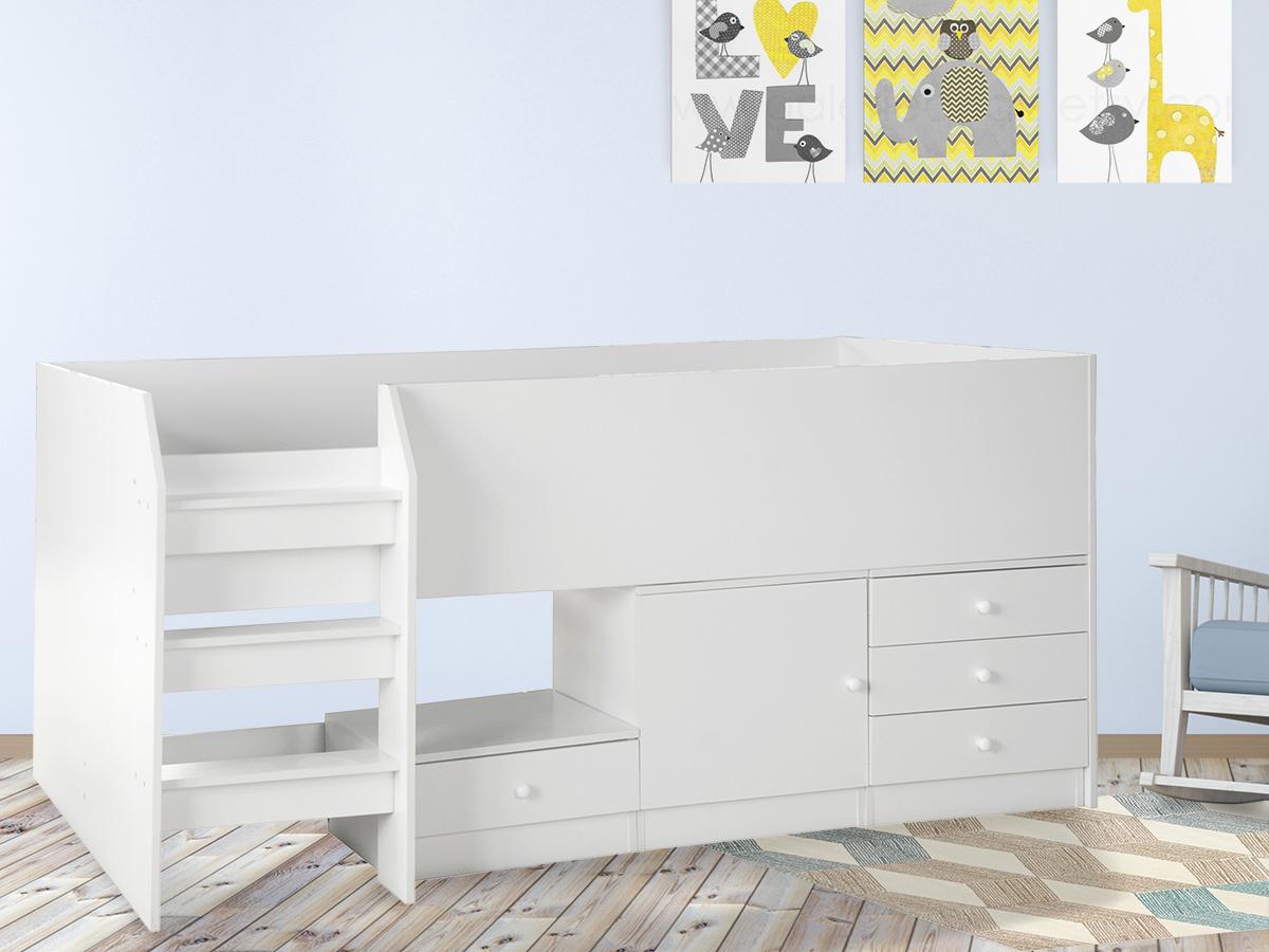 lit combin ucla 1 personne 85889. Black Bedroom Furniture Sets. Home Design Ideas