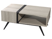 "Table basse ""Perla"" - 100 x 59 x 41 cm - Blanc"