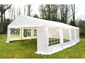 """Tente de réception """"Celia"""" en polyéthylène - 32m² - 4 x 8 m"""