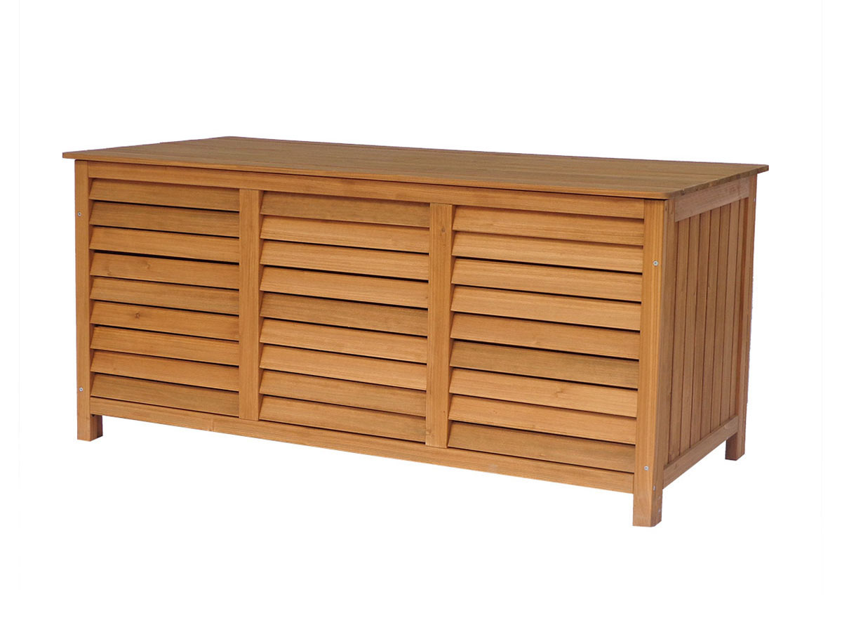 coffre de jardin en bois macao 130 x 64 x 60 cm marron 93316. Black Bedroom Furniture Sets. Home Design Ideas