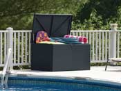 "Coffre jardin ""Designer deck box"" - 133 x 70 x 65 cm - Anthracite"