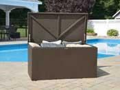 Coffre jardin métal 509L - 133 x 70 x 65 cm - Espresso