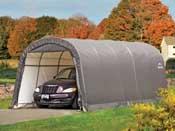 Garage Polyéthylène 22.57 m2 - 3,7 x 6,1 x 2,4m