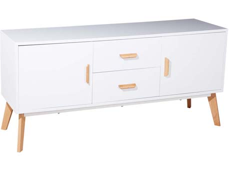 """Buffet """"Remy"""" - 160 x 40 x 70 cm - Blanc"""