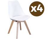 "Lot de 4 chaises ""Emmy"" - Blanc"