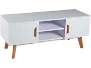Meuble TV  Jacky  - 120 x 40 x 45 cm - Blanc