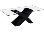 """Table basse rectangulaire """"Tina"""" en MDF laqué - Noir"""