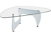 """Table basse """"Tara"""" - 120 x 70.5 x 41 cm - Blanc laqué"""