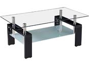 "Table basse ""Camillia"" - 110 x 60 x 45 cm - Noir"