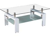"Table basse ""Camillia"" - 110 x 60 x 45 cm - Blanc"