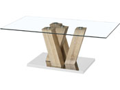 "Table basse ""Gaya"" - 110 x 60 x 40 cm - Marron"