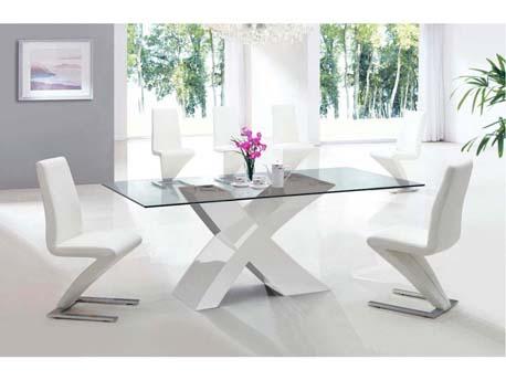 "Table repas ""Mona"" - 200 x 90 x 75 cm - Blanc"