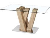 "Table repas ""Gaya"" - 150 x 90 x 75 cm - Marron"