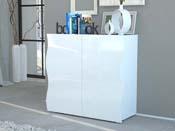 """Meuble """"Onda"""" - 2 portes - blanc - 90 x 39,5 x 81 cm"""