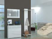 """Porte manteaux """"Kalava"""" - blanc  laqué - 60 x 30 x 200 cm"""
