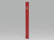 """Porte manteaux """"Stone"""" - 15 x 2.5 x 170 cm - rouge laqué"""