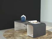 "Table basse ""S Time"" - blanc/report - 100 x 50 x 35 cm"
