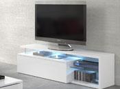 """Meuble TV LED """" Blue Light  - 150 x 41 x 43 cm - Blanc"""