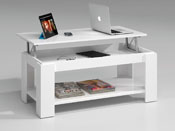 "Table basse "" Tyna "" - 100 x 50 x 43 cm - Blanc  brillant"
