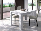 "Table repas "" Kenda "" - extensible - 140/190 x 90 x 78 cm - Blanc brillant"