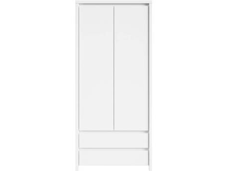 "Armoire "" Kaspian "" - 90 x 55.5 x 200.5 cm - Blanc mat"